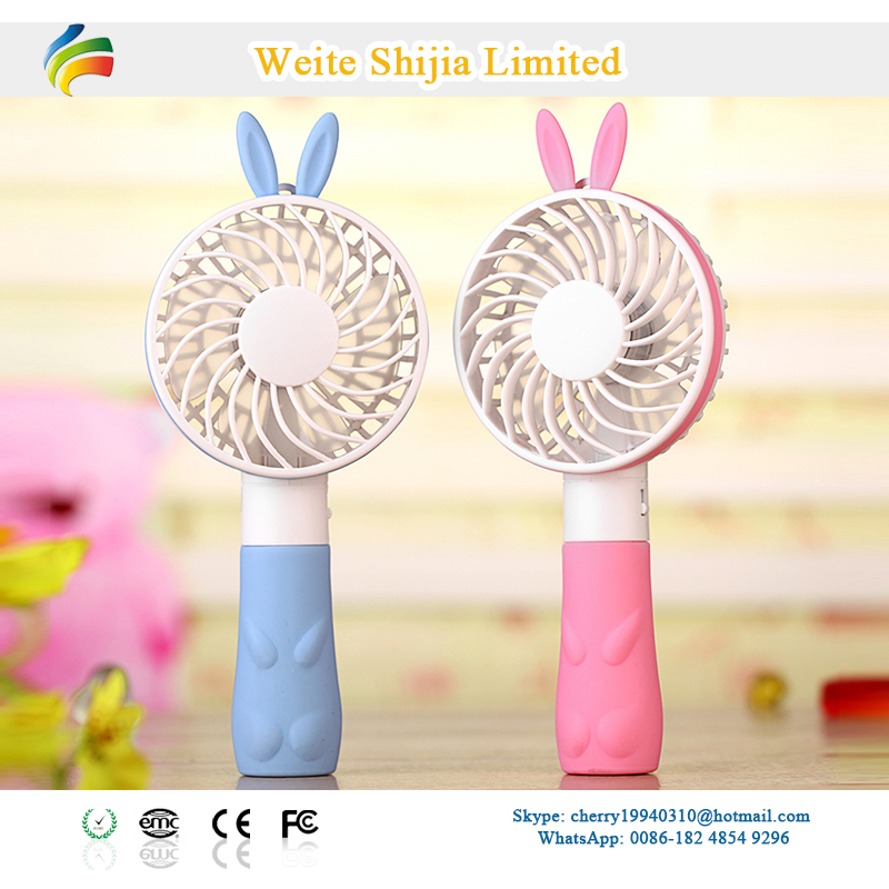 2016 Cute Rabbit Cooling Hand Held Electric Fan