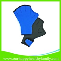 Blue & Grey Neoprene Webbed Swimming Surfing Diving Sport Gloves
