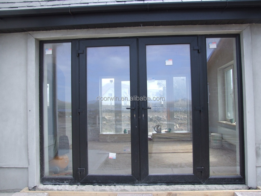 Aluminum Frame Double Glass Swing Door - Buy Double Glass ...