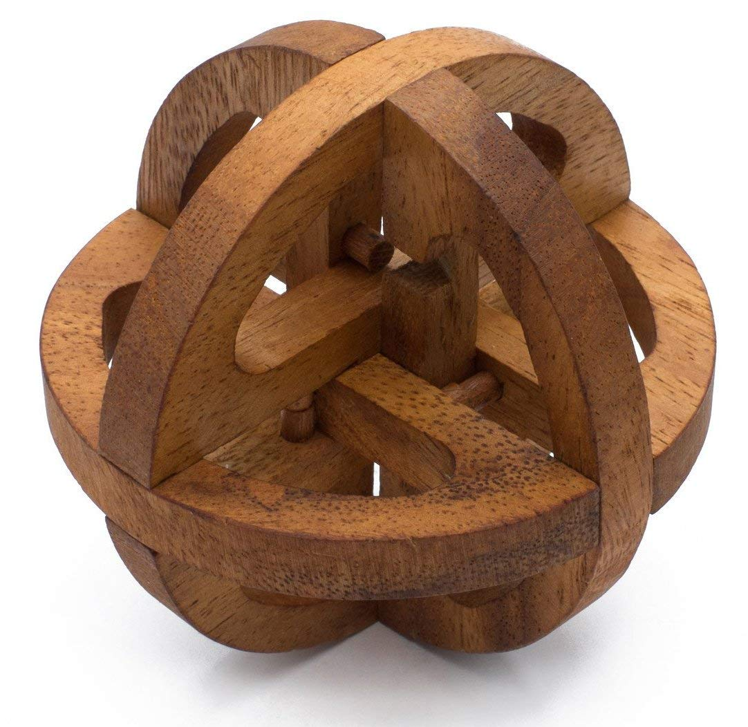 Global Puzzle: Handmade & Organic Wooden Puzzle for Adults from SiamMandalay with SM Gift Box(Pictured)