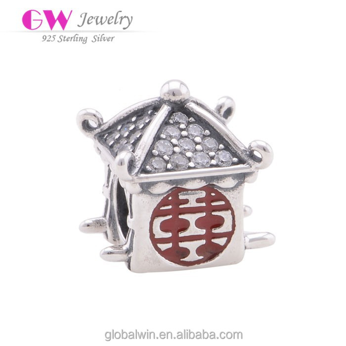 D071 925 Sterling Silver Charms Chinese