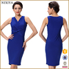 High Quality Competitive Price V Neck Sexy Bodycon Cocktail Dresses