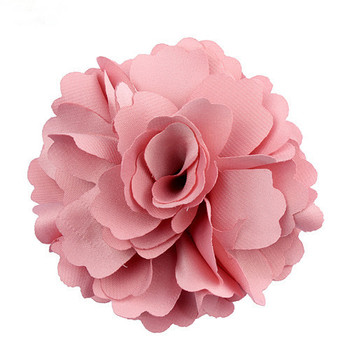 Wholesale Pink Decorative Handmade Chiffon Fabric Flower Corsage