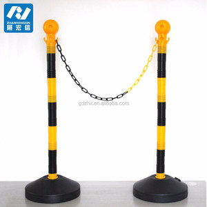plastic stanchions and chains,plastic crowd barrier post