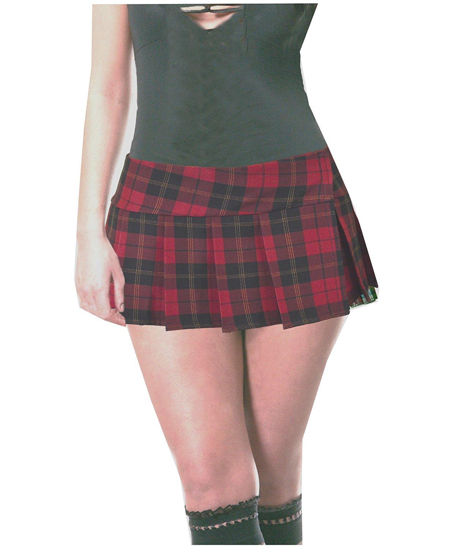 e9b8ca076 Get Quotations · Burgundy and Black Schoolgirl Tartan Plaid Pleated Micro Mini  Skirt Barossa