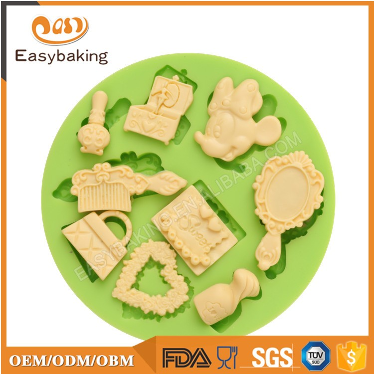 ES-1758 Fondant Mould Silicone Molds for Cake Decorating
