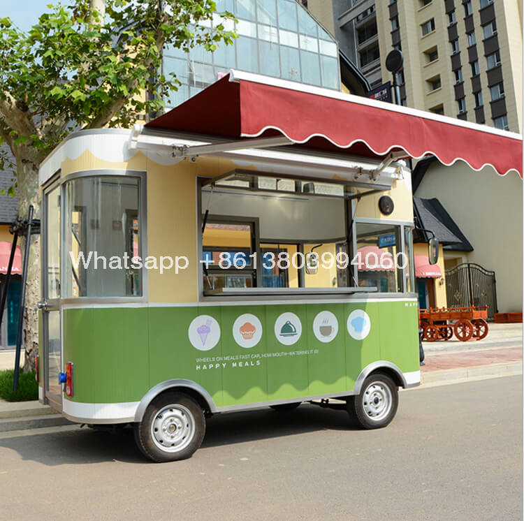 China Small Electric Street Mobile Food Cart Food Truck