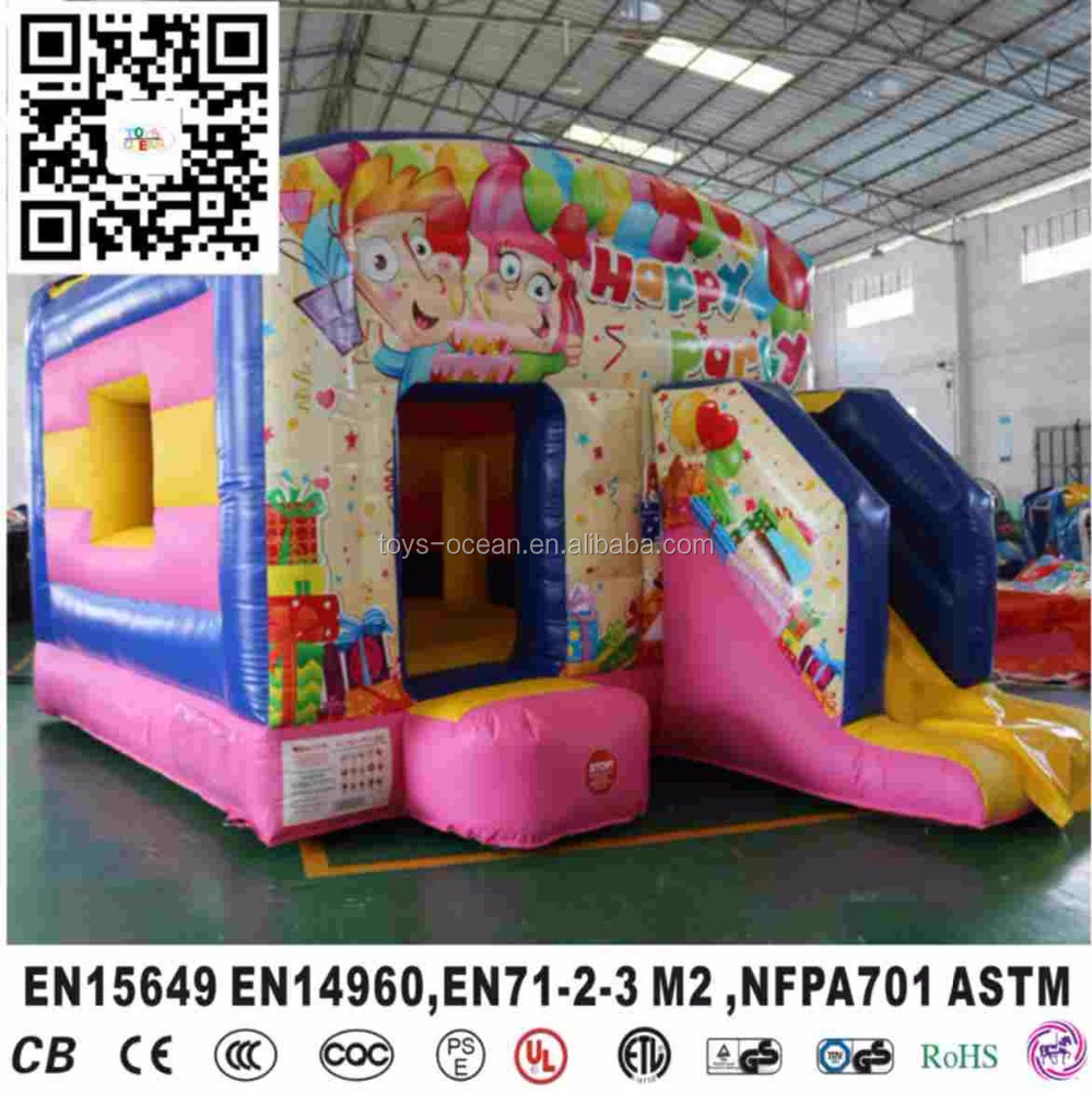 Cheap Inflatable Multifun party moonwalk Bounce House with slide