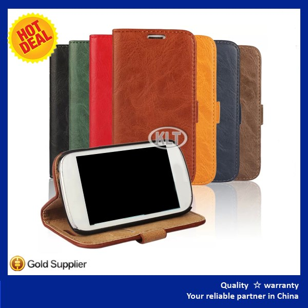 Leather Case Cover for Samsung Galaxy Trend 2 lite Crocodile Grain