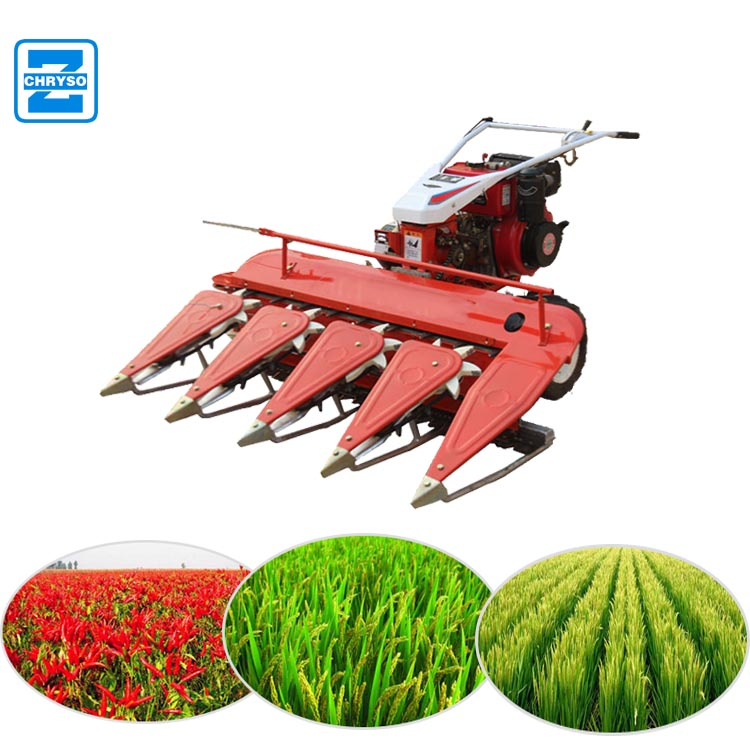 Mini rice and wheat harvester | reaper | swather exporter in China