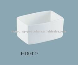 HB0427 white 46% bone china ceramic tureen pot