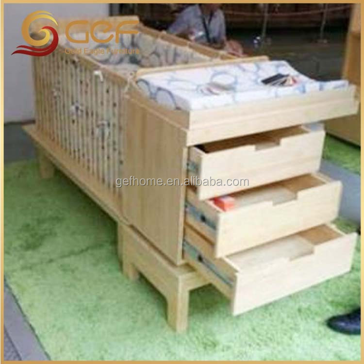Baby wooden crib baby cot bed with changer GEF-BB-172 - Baby Wooden Crib Baby Cot Bed With Changer Gef-bb-172 - Buy Baby
