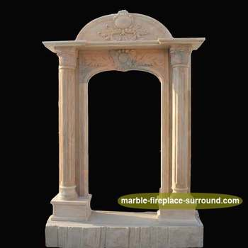 Man Made Arch Marble Columns Door Surround