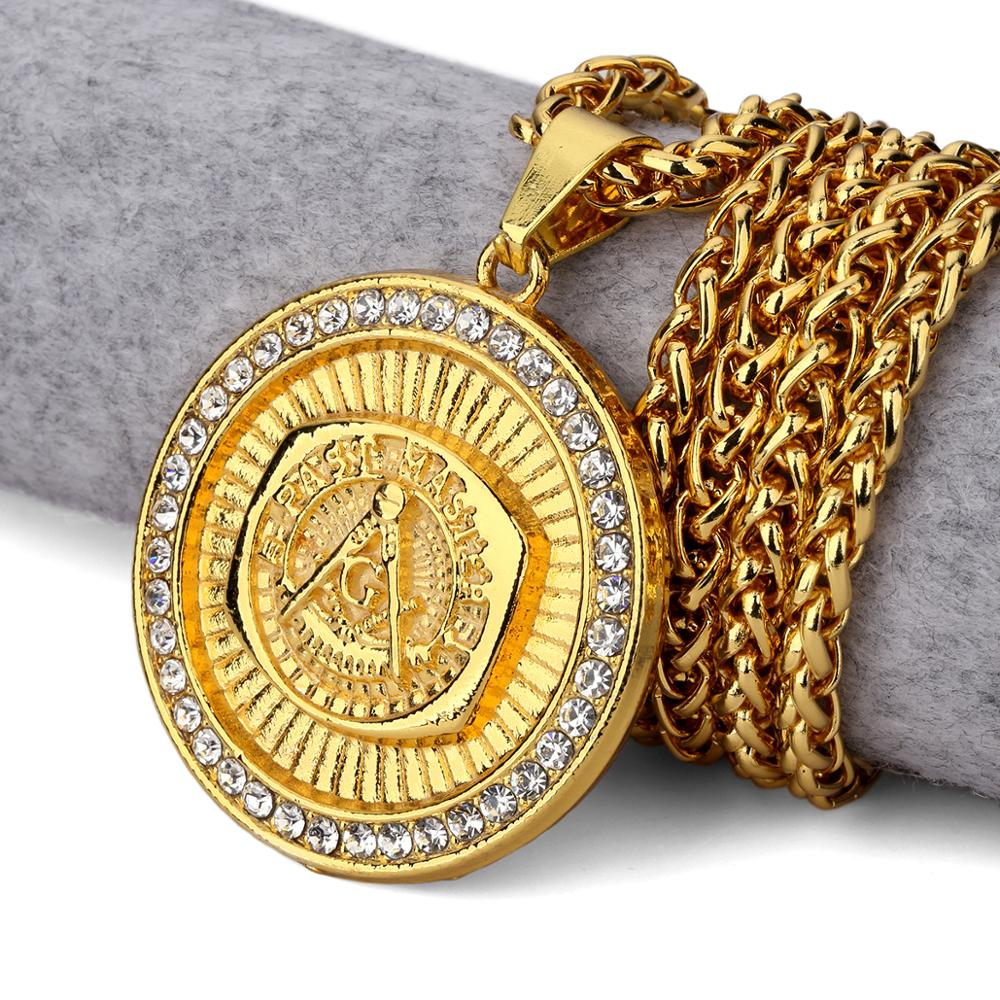 The new ag masonic pendant18 k gold pendanthip hop jewelry the new ag masonic pendant 18 k gold pendant hip hop jewelry wholesale and aloadofball Gallery