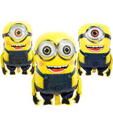 Wholesale helium Minions Foil Balloon For birthday party decorations