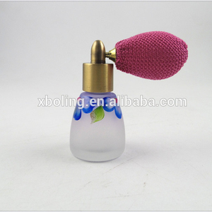 15ml craft Mini Glass bottle with13mm perfume bulb pump sprayer