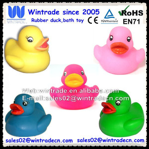 Small pvc duck/mini bathtub toy/bath plastic duck