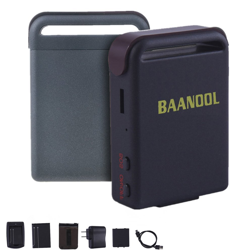 BAANOOL Portable GPS Tracker Vehicle Tracking Device Real Time GPS Tracker for Vehicles Personal Car Tracker with Complete Spare Parts 2 Battery Included Tk102