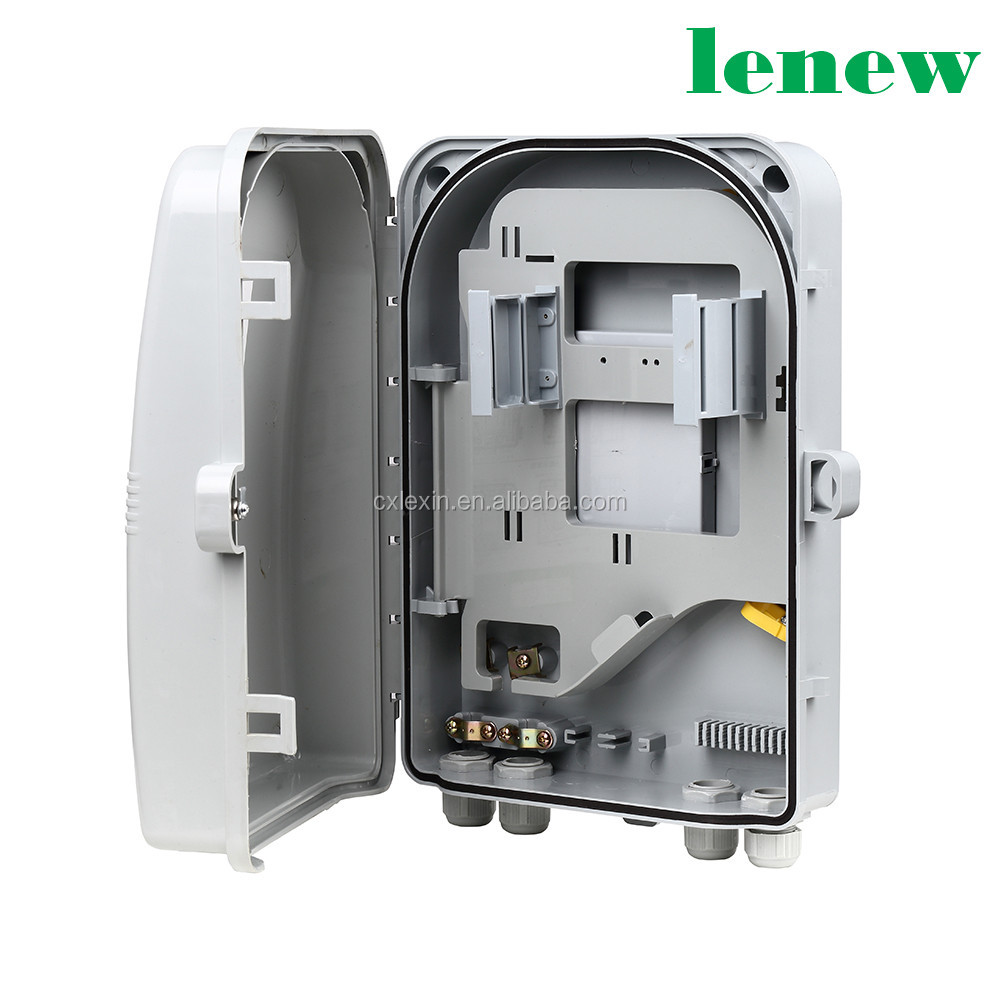 1:8 1:12 Fiber Optical Splitter ABS Distribution Box For FTTH Network