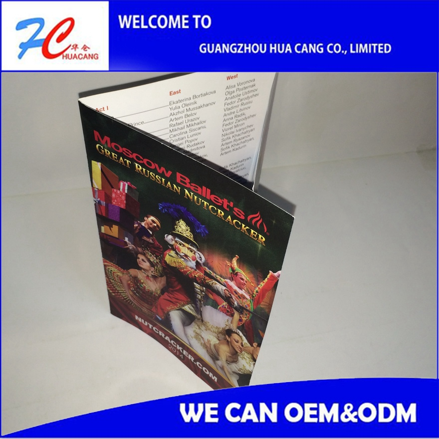 Alibaba Custom design leaflet printing with cheap price/posters comics