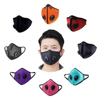 PM 2.5 carbon filter ski half face mask respirator