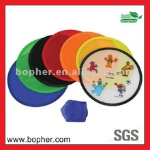 nylon folding frisbee with pouch