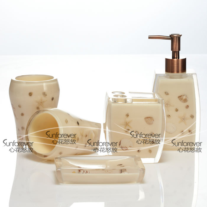 Cassina Cassina shells seashells Five-piece beige bathroom counter genuine new home wedding gift boxes