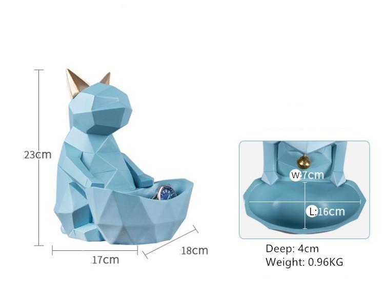 Home Decor INS Resin Cat Geometric Storage Office Decorative Sculpture Creative Gift Resin Cat Storage Statue