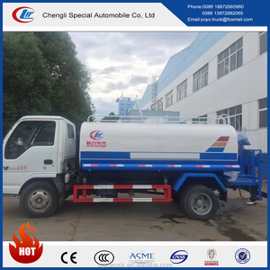 NEW design 4T 4X2 qingling Carbon Steel 4000 liters Water Tank Truck with high quality
