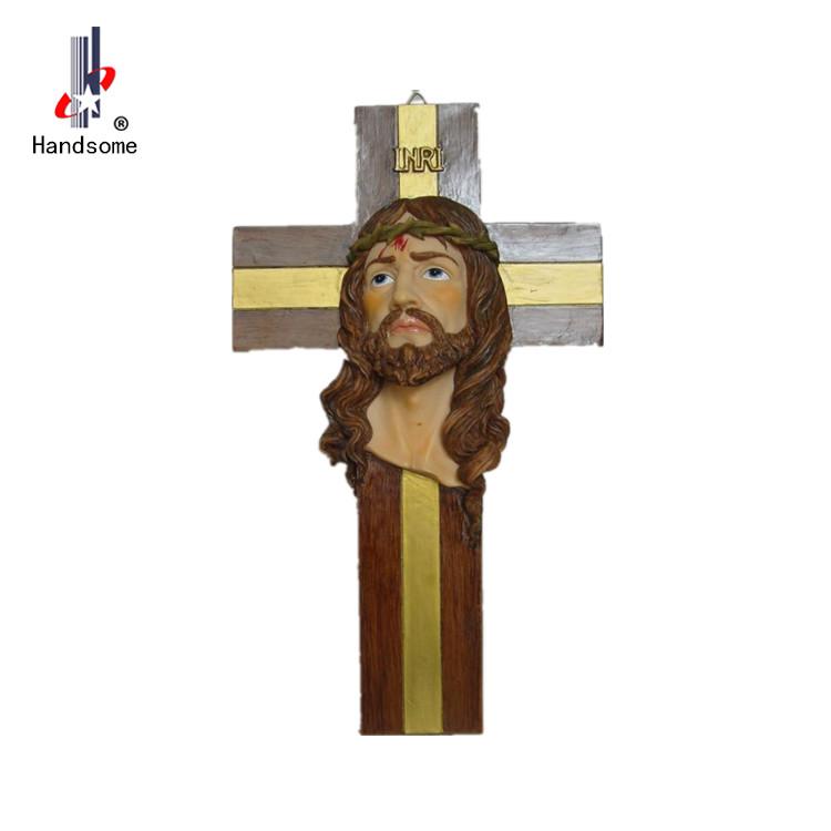 hot sale Home garden decorative resin jesus cross  religious  Decoration