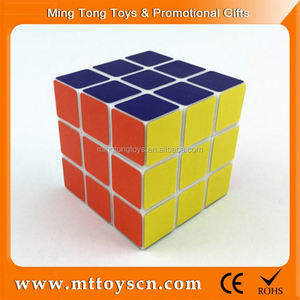 Customized design ps plastic 6.5cm 3d rubic cube