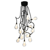 2017 new design metal hose 12 glass bulbs modern led chandelier