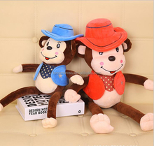 two size plush toy monkey with banana