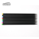 Matte Black Wooden Pencil with Colorful Eraser
