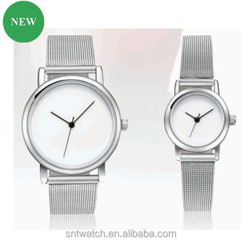 0af0350ca0a couple watch birthday gift for lover mesh band Sublimation Blank Watch  classic fashion custom logo