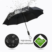 Amazon Hot sale Automatic 10 ribs Compact 3 fold Travel Umbrella Windproof