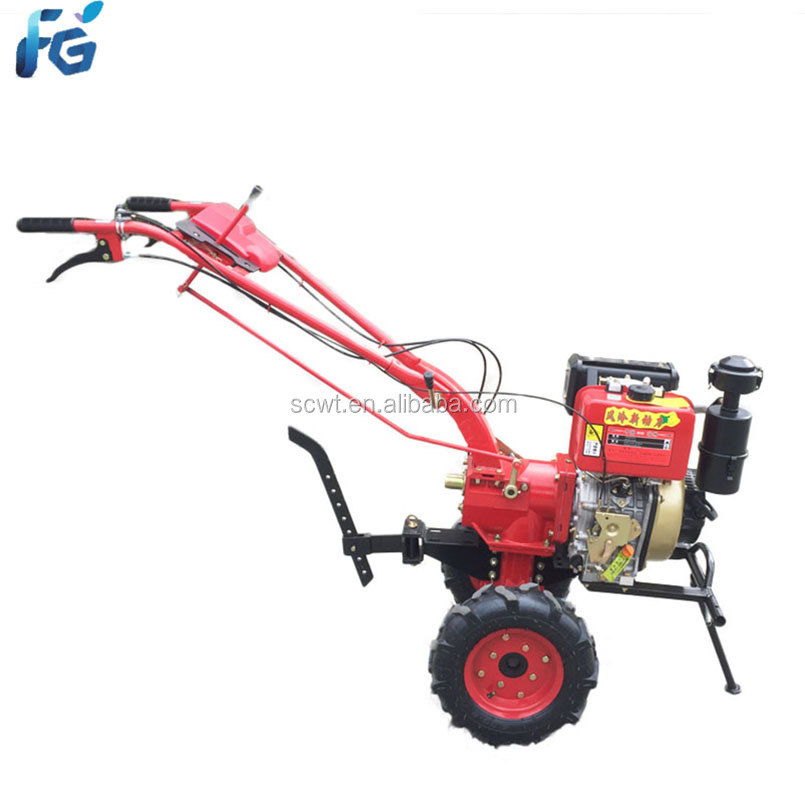 Gear Driving Mini Tiller With High Quality diesel Rotavator