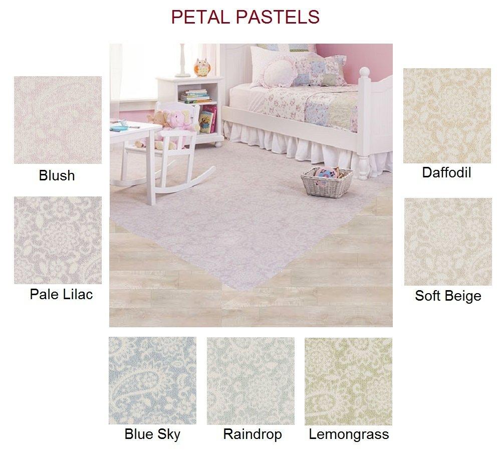 PETAL PASTELS Custom Carpet AREA RUG - 40 Oz. Tufted, Pinpoint Saxony - Nylon (8'x10', Blush)