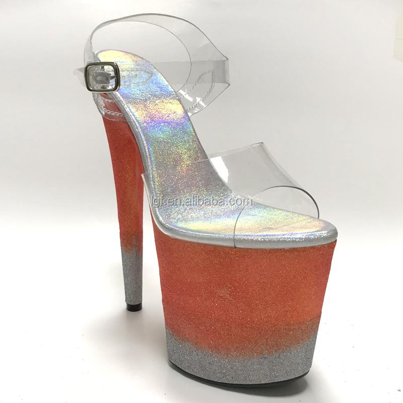 20 Chaussure Buy Sandale Leecabe Sur Poteau Personnel Glitterheels Danse Ou Populaires Mesure De Talons Chaussures Cm À yYb7fg6v
