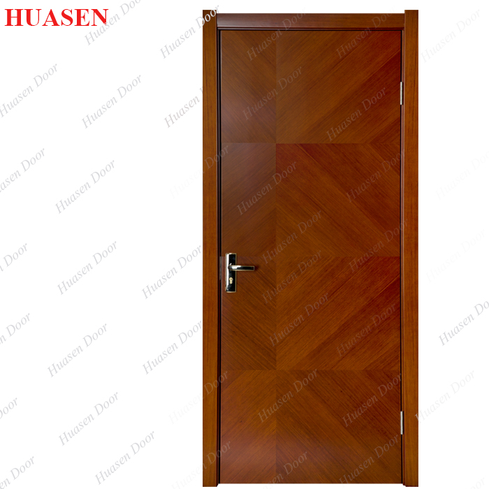 Slat Door Veneer Laminated Wooden Main Slat Door Design