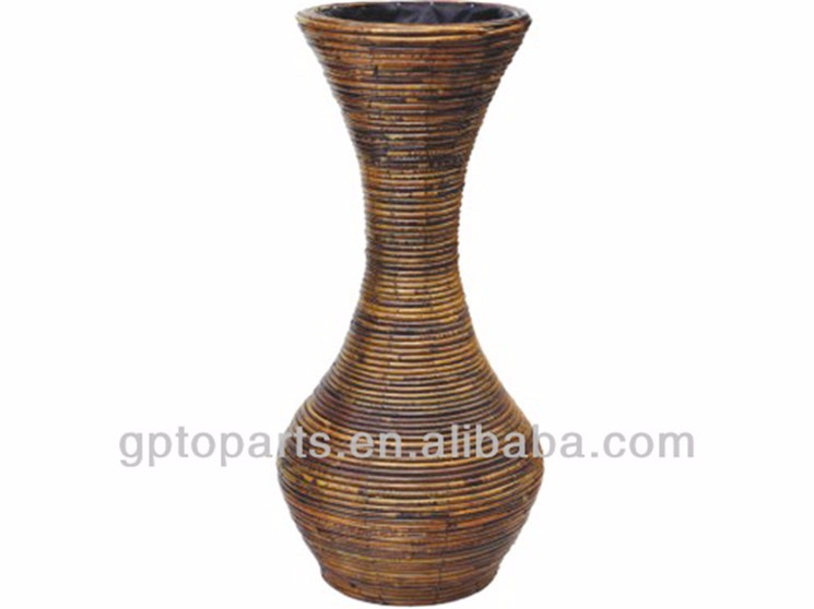 Wholesale Beautiful wicker flower vase/flower basket for home decoration