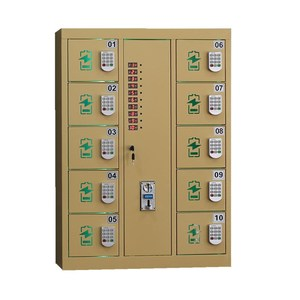 10 doors PIN code wall mounted steel mobile phone charging station cell phone locker