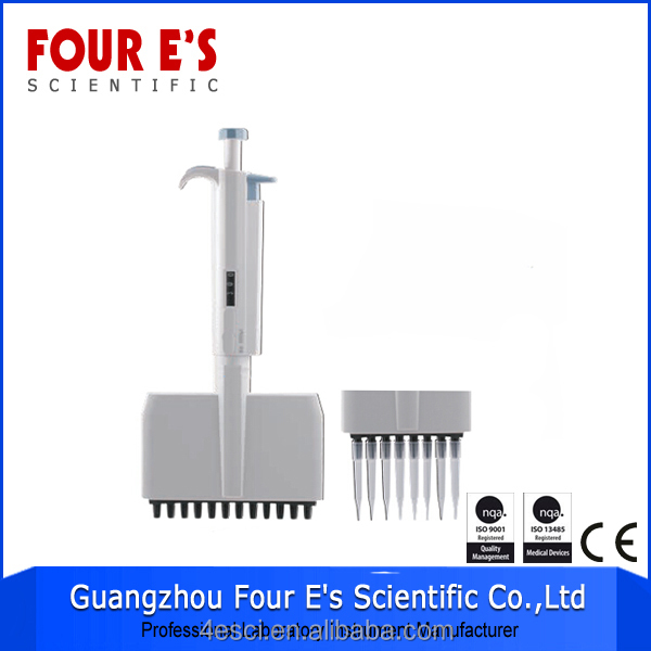 Easy change tips variable adjustable laboratory large volume range pipette
