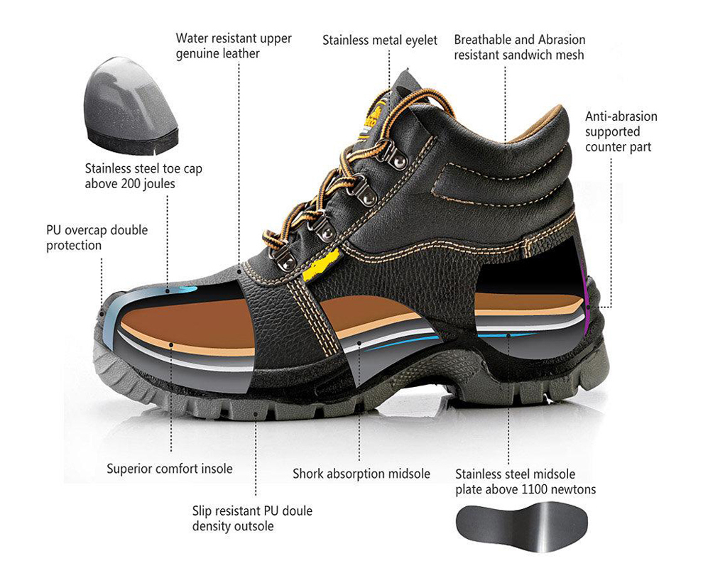 Electrical Shock Safety Boots/workman Lightweight Safety Boots/acid Resistant Safety Boots - Buy ...