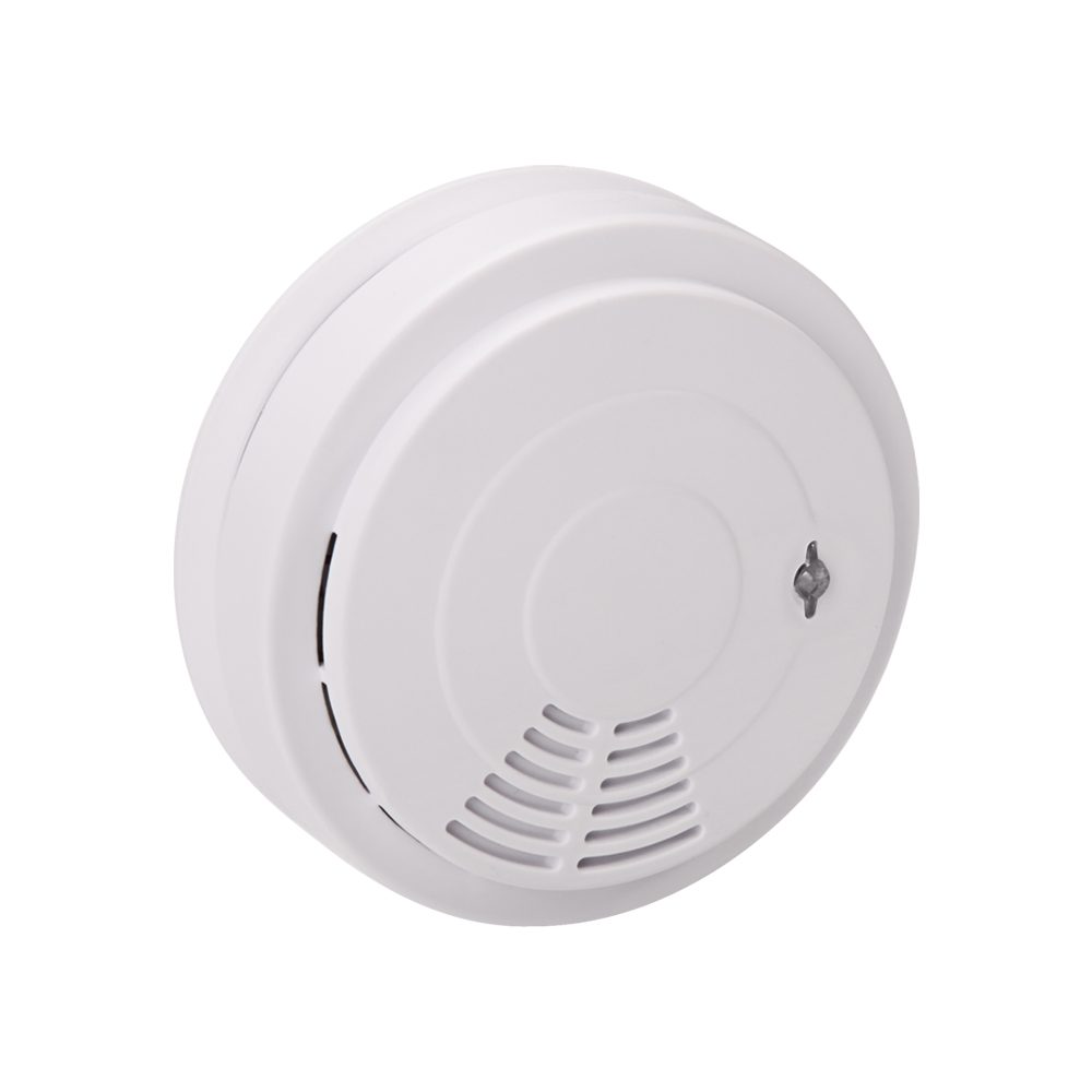Wireless Smoke Sensor Detector White Home Security Alarm System with Voice Warning