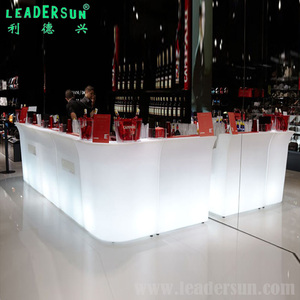 LED light up waterproof IP65 outdoor party bar Plastic Color Changing Mobile Bar Counter