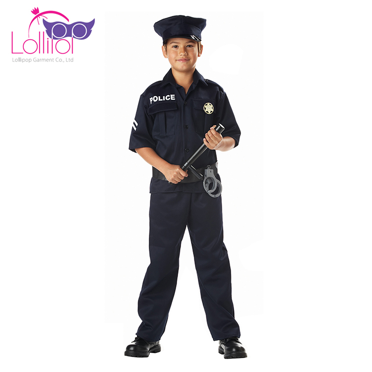 Wholesale carnival costumes custom kids police costume for boys