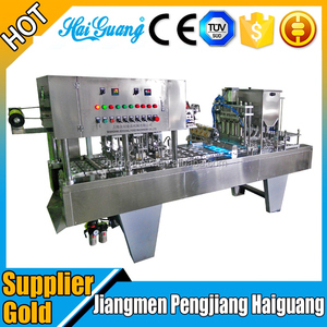 Machine Manufacturer Cup Water Sealing Equipment/Auto Fruit Jelly Cup Filler Machine