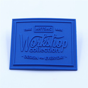 Heat transfer textile silicone jeans brand logo label sticker