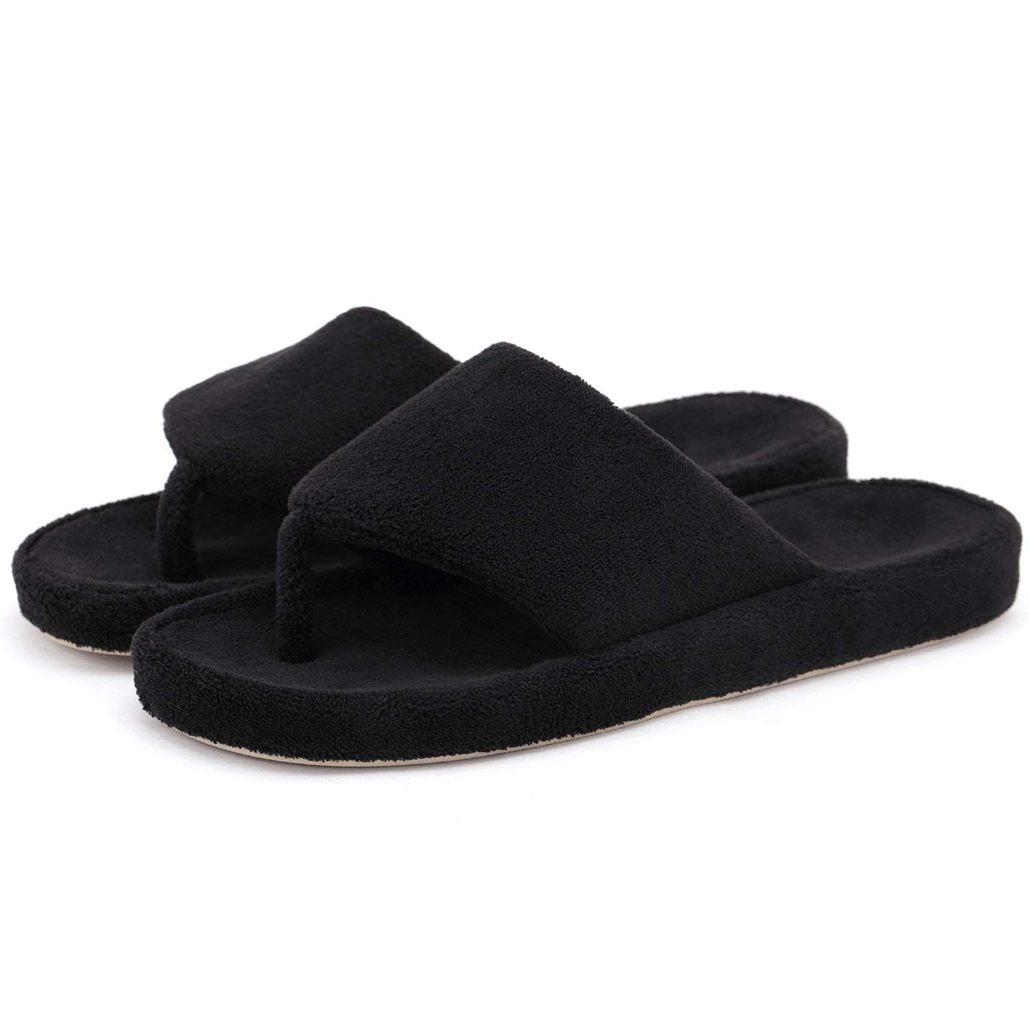 3d909516f Get Quotations · Onmygogo Women Coral Fleece House Slippers with Arch  Support